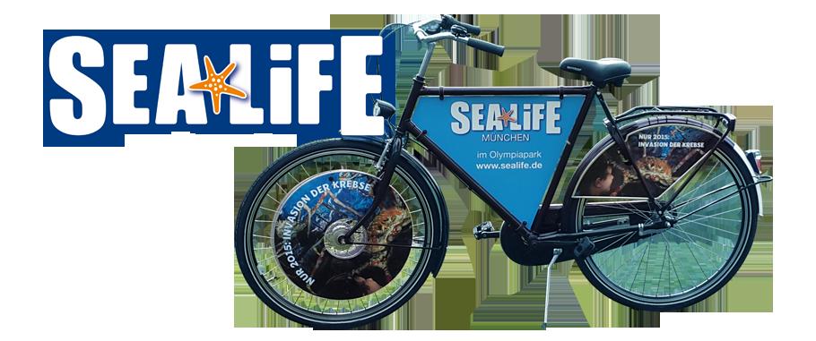 sealife-Fahrradwerbung